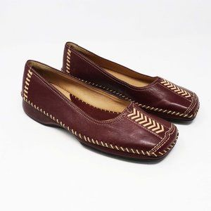NURTURE Brown Leather Loafers